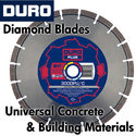 Duro Diamond Blades for Universal Concrete and Building Materials