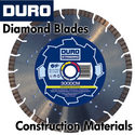 Duro Diamond Blades for Construction Materials
