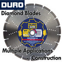 Duro Diamond Blades for Multiple Applications - Construction