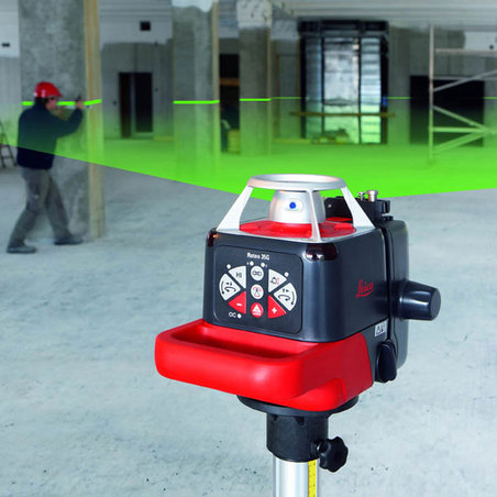 leica roteo 35g rotating green line laser