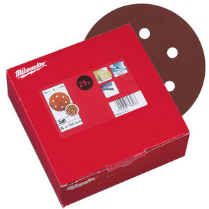 Milwaukee 150mm 240 Grit Sanding Discs