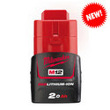 Milwaukee M12B2 12 volt 2.0 Ah REDLithium Battery BOGOF