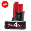 Milwaukee M12B4 12 volt 4.0 Ah REDLithium Battery