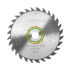 Festool 160 mm Universal Saw Blade - 28 Teeth