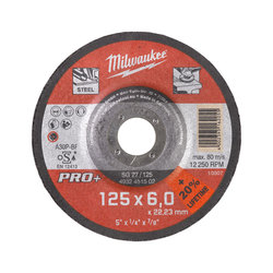 Milwaukee 125 x 6 mm PRO Metal Grinding Disc