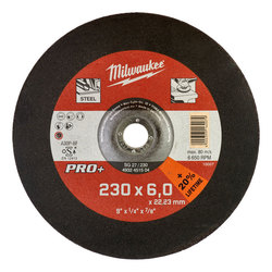 Milwaukee 230 x 6 mm PRO Metal Grinding Disc