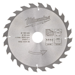 Milwaukee 24T Blade For M18 CCS66