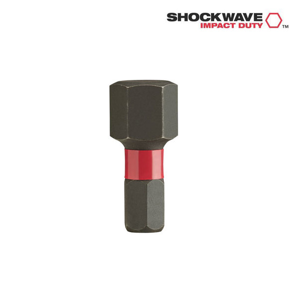 Milwaukee Power Tools, Milwaukee HEX 10 25 mm Shockwave 2 Bits Twin Pack