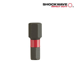 Milwaukee HEX 5 25 mm Shockwave 2 Bits Twin Pack