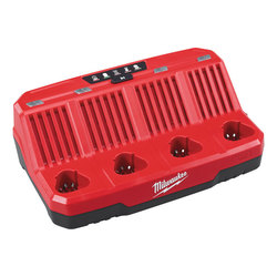 Milwaukee M12C4 12 volt 4 Bay Charger