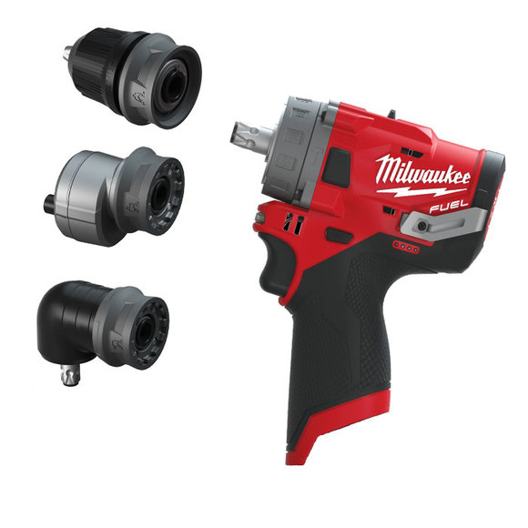 Milwaukee Power Tools, Milwaukee M12FPDXKIT-0 'FUEL GEN II' Percussion Drill With Removable Chuck