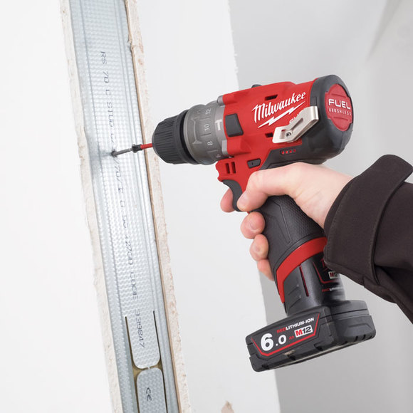 Milwaukee Power Tools, , Milwaukee M12FPDXKIT-602X 'FUEL GEN II' Percussion Drill With Removable Chuck