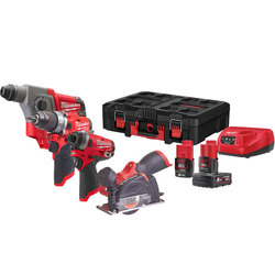 Milwaukee Power Tools, Milwaukee M12FPP4A-622P PowerPack In PACKOUT Box