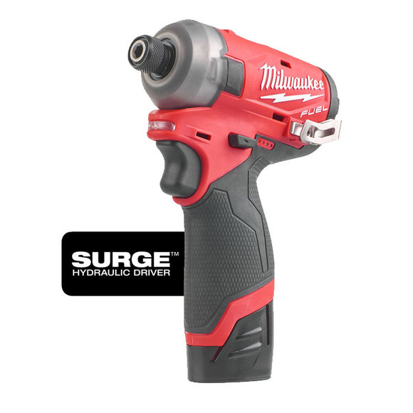 "Milwaukee Power Tools, , Milwaukee M12FQID-202X 'FUEL SURGE' 1/4"" Hydraulic Impact Driver"