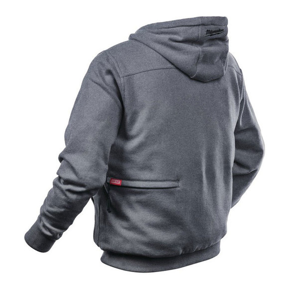 Milwaukee Power Tools, , Milwaukee M12HHGREY-0 Heated Hoodie X Large