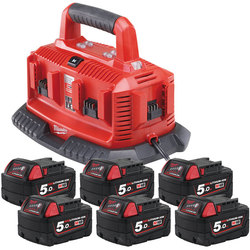 Milwaukee M1418C6 Multibay Charger/Battery Kit 240 volt