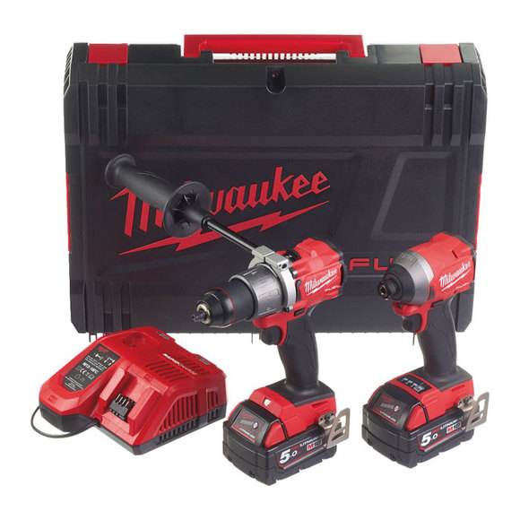 Milwaukee Power Tools, , Milwaukee M18FPP2A2-502X 'FUEL' Gen 3 Power Pack