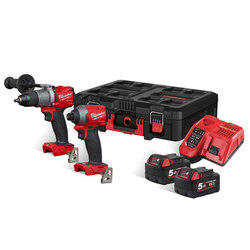 Milwaukee M18FPP2L2-502P PowerPack in PACKOUT Box
