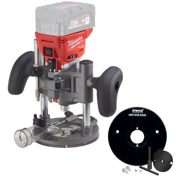 Milwaukee M18FTR-0X 'Fuel' Trim Router With Trend Subbase