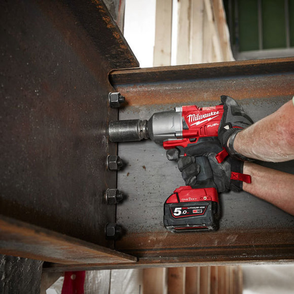 "Milwaukee Power Tools, , Milwaukee M18ONEFHIWF12-502X 'ONEKEY' 1/2"" Friction Ring Impact Wrench"
