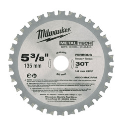 Milwaukee Metal Cutting Blade 135 mm 30 Tooth