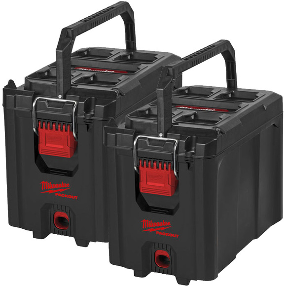 Milwaukee PACKOUT Compact Toolbox TWIN PACK