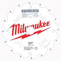 Milwaukee PTFE Coated Circular Saw Blade 210 mm x 16 Teeth