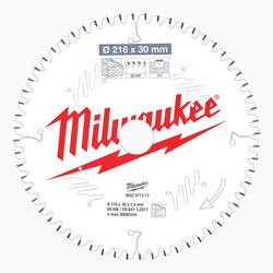Milwaukee PTFE Coated Circular Saw Blade 216 mm x 60 Teeth