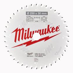 Milwaukee PTFE Coated Circular Saw Blade 250 mm x 40 Teeth