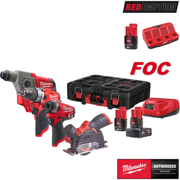 Milwaukee REDEMPTION M12FPP4A-622P PowerPack In PACKOUT Box
