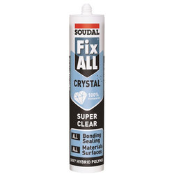 Soudal Fix All CRYSTAL Bonding Sealant Clear