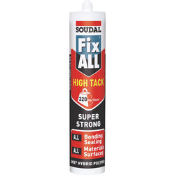 Soudal Fix All High Tack White Bonding Sealant