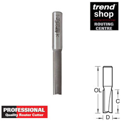 Trend 3/83DX Professional Two Flute Worktop Cutter