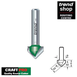Trend C044A CraftPro Chamfer V Groove 45 Degree 18.4 mm