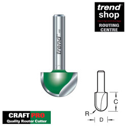Trend C058 CraftPro 12.7 mm Radius x 25.4 mm Diameter