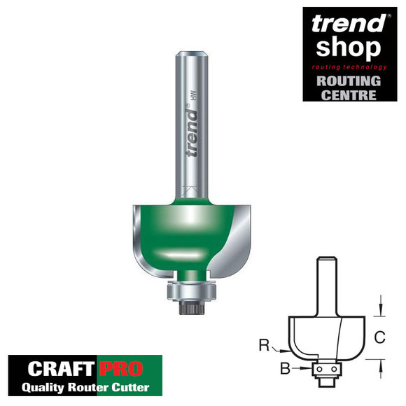 Trend Routing, Trend C059 CraftPro Bearing Guided Radius 4.8 mm