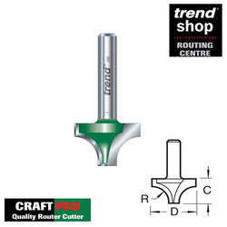 Trend C071 CraftPro Sash Bar Cutter 6.3 mm Radius