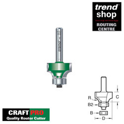 Trend C075A CraftPro Guided Round Over & Ovolo 6 mm Radius