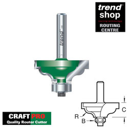 Trend C096 CraftPro Guided Ogee Quirk 4 mm Radius