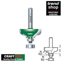 Trend C099 CraftPro Guided Ogee Mould 6.3 mm Radius