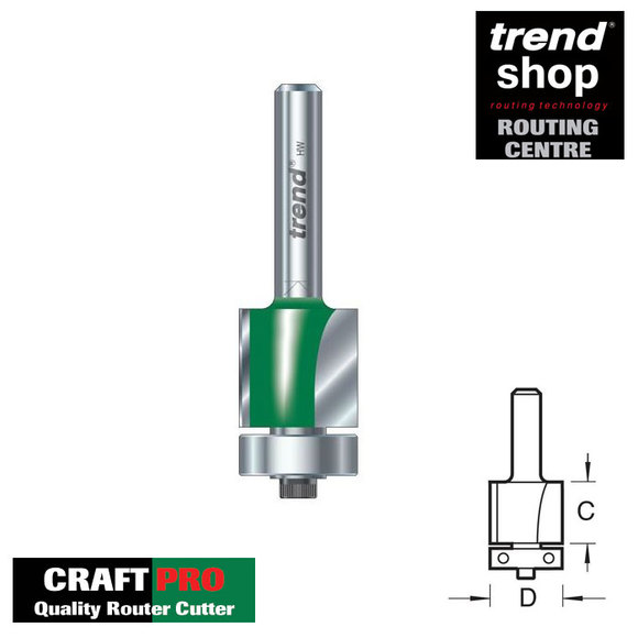 Trend Routing, Trend C117 CraftPro Self Guided Trimmer 15.9 mm