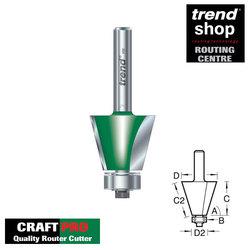 Trend C138A CraftPro 60 Degree Guided Bevel Cutter