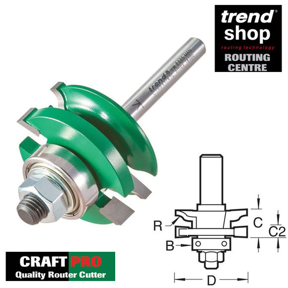 Trend Routing, Trend C149 CraftPro Guided Combination Ogee Profile Scriber