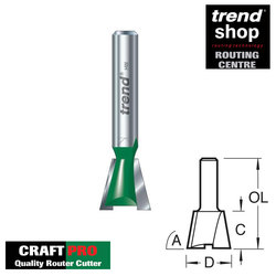 Trend C154 CraftPro 6 mm 98 Degree Dovetail Cutter