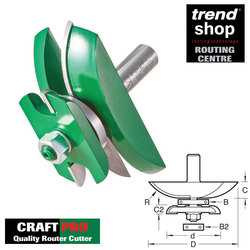 Trend C183B CraftPro Guided Radius Panel With Back Cutter