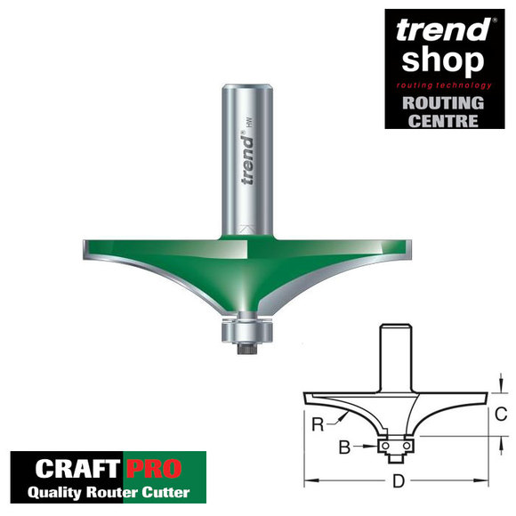 Trend Routing, Trend C190 CraftPro Guided Handrail Cutter 44 mm Radius