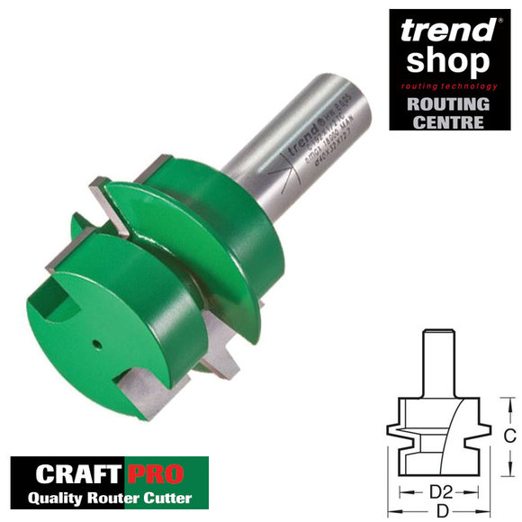 Trend Routing, Trend C192 CraftPro Offset Tongue & Groove