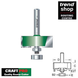 Trend C193 CraftPro Bearing Guided Rebater 31.8 x 15.9 mm