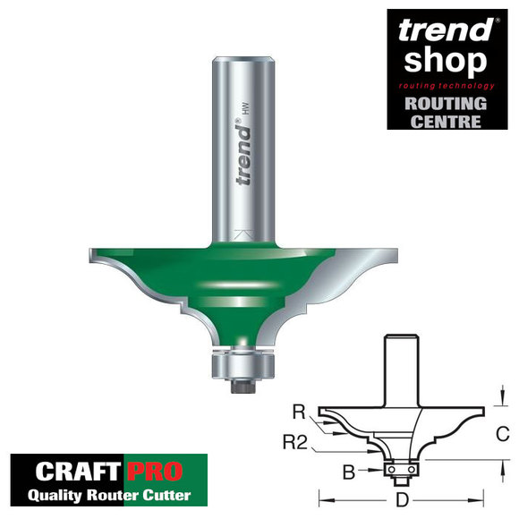 Trend Routing, Trend C217 CraftPro Guided Elegant Mould 10.5 mm Radius