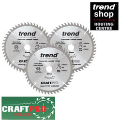 Trend CSB/165/3PK/A 3 Pack 165mm Saw Blades (For DEWALT/MAKITA)
